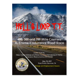 HELL'S LOOP T.T. 2017 POSTCARD