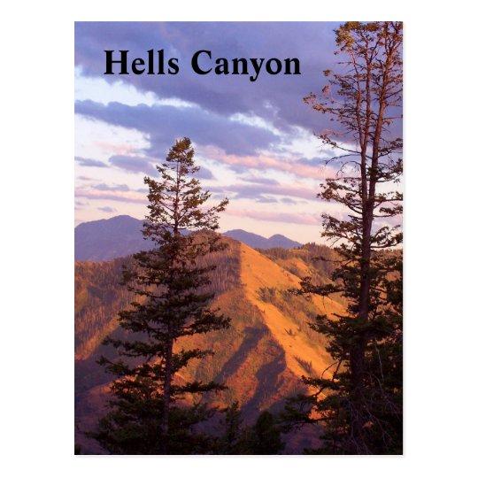 Hells vertical view postcard