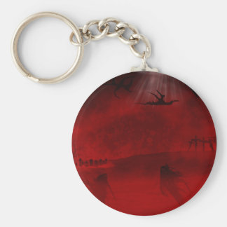Hell's Wasteland Basic Round Button Keychain