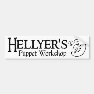 Hellyer's Puppet Workshop Bumper Sticker