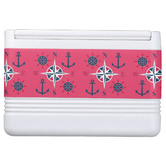 Helm Anchors & Compass Navy White Red