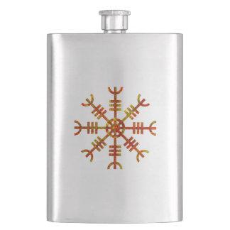 Helm Of Awe Ancient Viking Design Flasks