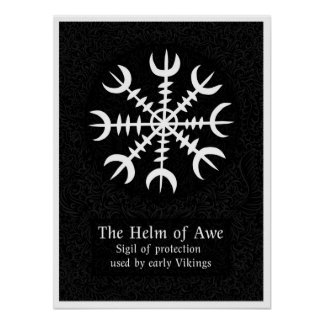 Helm Of Awe Icelandic magical sign - Black