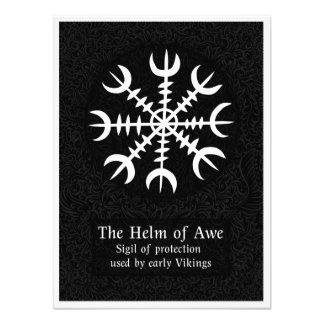 Helm Of Awe Icelandic magical sign - Black