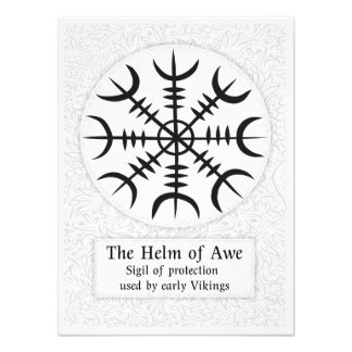 Helm Of Awe Icelandic magical sign - White