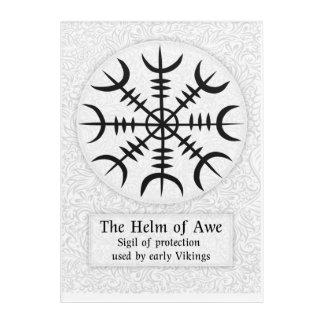 Helm Of Awe Icelandic magical sign - White Acrylic Print