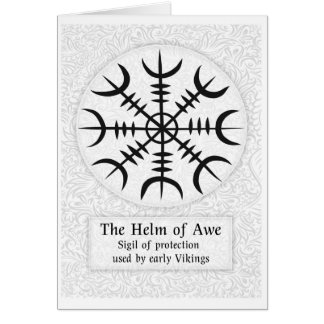 Helm Of Awe Icelandic magical sign - White Card