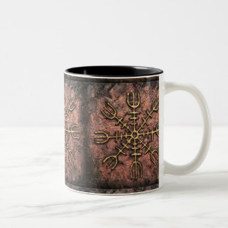 Helm of Awe Two-Tone Coffee Mug