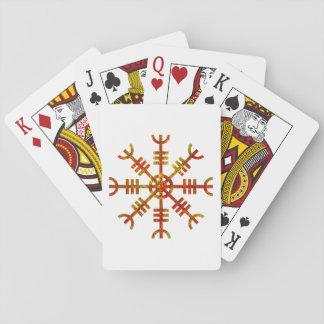 Helm Of Awe Viking Symbol Playing Cards