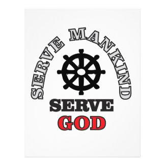 helm serve others customized letterhead