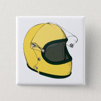 Helmet 2 Inch Square Button