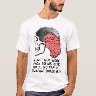 Helmet Brain Damage Funny Quad ATV Shirt