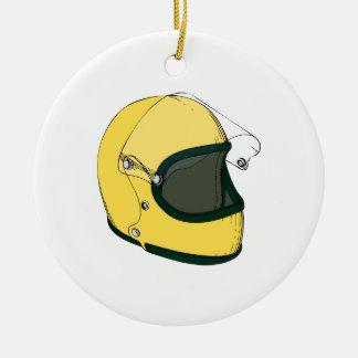 Helmet Ceramic Ornament