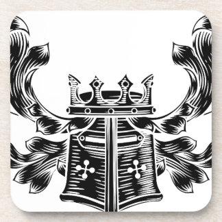 Helmet Coat of Arms Heraldic Crest Coaster