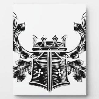Helmet Coat of Arms Heraldic Crest Plaque