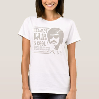 Helmet Hair is Cool! (taupe) T-Shirt