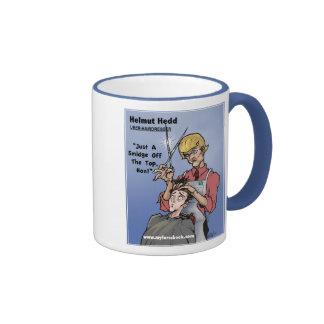 Helmet Hedd- myFarcebook.com Hairdresser Ringer Mug