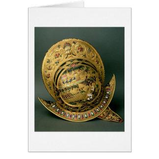 Helmet of Charles IX (1550-74) 16th century (gold Greeting Cards