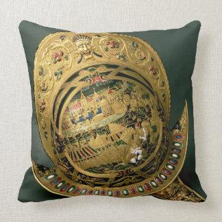 Helmet of Charles IX (1550-74) 16th century (gold Throw Pillows
