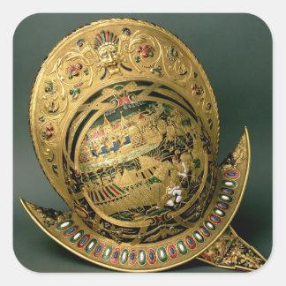 Helmet of Charles IX (1550-74) 16th century (gold Square Sticker
