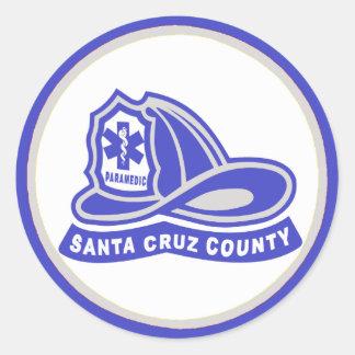 Helmet Santa Cruz County Paramedic Classic Round Sticker