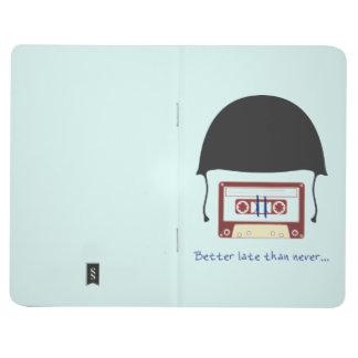 Helmet travel notebook journals