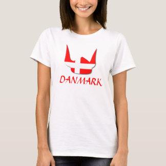 Helmet Viking Flag Denmark Danmark Design T-Shirt