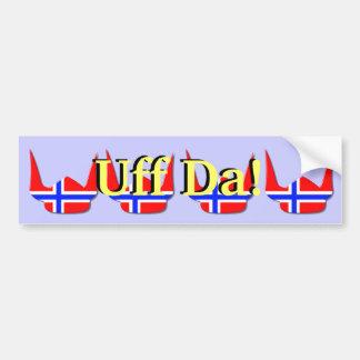 Helmet Viking Flag Norway Design Bumper Sticker