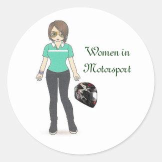 Helmet, Women in Motorsport Classic Round Sticker