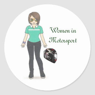Helmet, Women in Motorsport Round Sticker