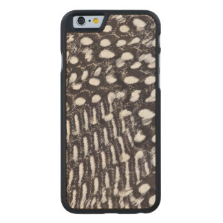Helmeted Guinea fowl feather Carved Maple iPhone 6 Case