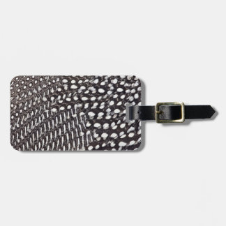 Helmeted Guinea fowl feather Luggage Tag