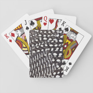 Helmeted Guinea fowl feather Playing Cards