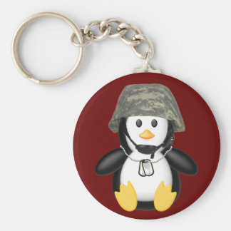 Helmeted Penguin Keychain