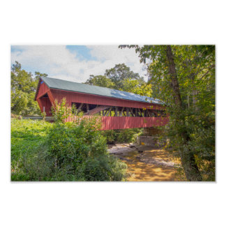 Helmick Mill (Island Run) Covered Bridge, Ohio Poster