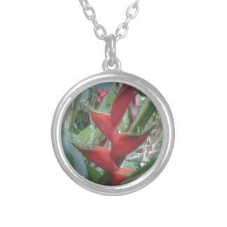 Heloconia Silver Plated Necklace