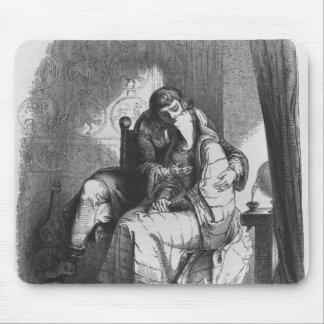Heloise and Abelard kissing Mouse Pad