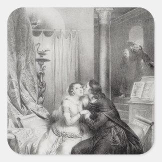 Heloise and Abelard Square Sticker