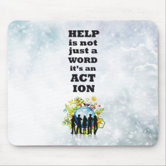 Help&Action Mouse Pad