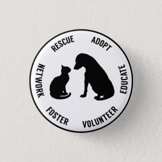 Help Animals Animal Welfare Badge 1 Inch Round Button