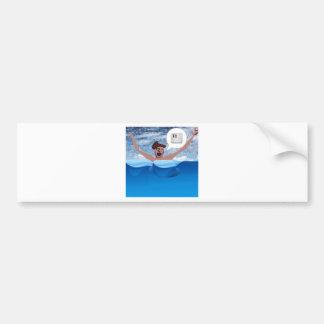 HELP-big Bumper Sticker