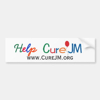 Help Cure JM Bumper Sticker
