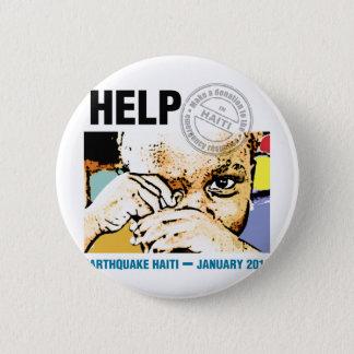 Help Donation Haiti 2 Inch Round Button