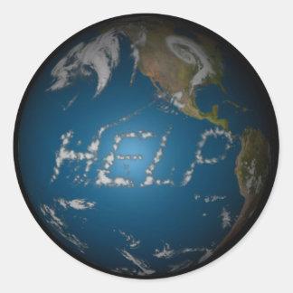Help Earth Round Sticker