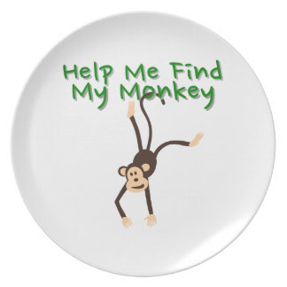 Help Find My Monkey Party Plate