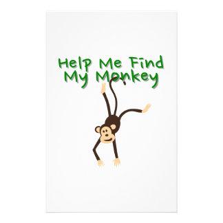 Help Find My Monkey Stationery