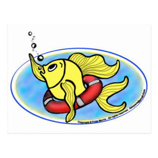 Help Fish Postcard