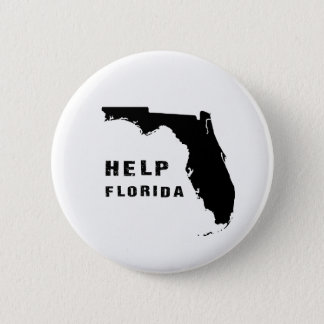 Help Florida after hurricane Irma 2 Inch Round Button