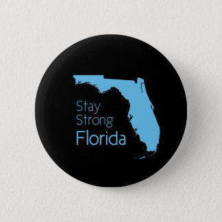 Help Florida after hurricane Irma black and blue 2 Inch Round Button