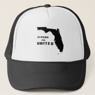 Help Florida after hurricane Irma black and white Trucker Hat